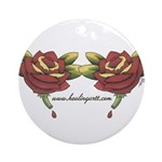 Tattoo Roses Ornament (Round)