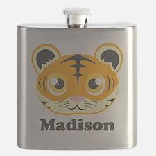 Custom Name Cute Tiger Flask