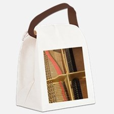 Inside a Piano Canvas Lunch Bag