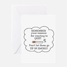 Cute Non smokers Greeting Card