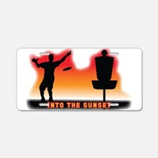 Into the Sunset Aluminum License Plate