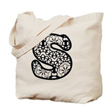 LACE LETTER S Tote Bag