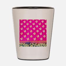 Pink Blue Sari Art Shot Glass