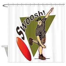 Swoosh! Shower Curtain