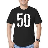 50th birthday Fitted T-shirts (Dark)