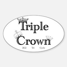 Triple Crown Oval Decal