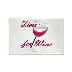 Time for Wine Rectangle Magnet