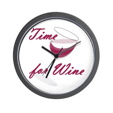 Time for Wine Wall Clock