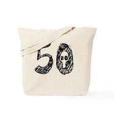 50 Year Skull Tote Bag