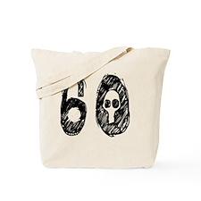 60 Year Skull Black  Tote Bag