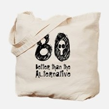 80 Years Skull Black  Tote Bag