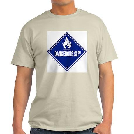 Danger/Wet Symbol: Ash Grey T-Shirt