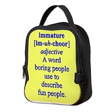 IMMATURE Neoprene Lunch Bag