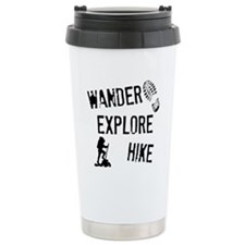 Wander, Explore, Hike Travel Mug