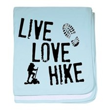 Live, Love, Hike baby blanket