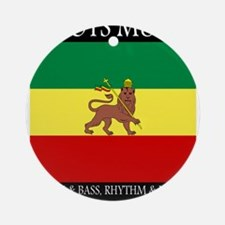Roots-Music-Flag-Ethiopia-iPad.pn Ornament (Round)