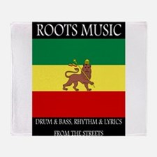 Roots-Music-Flag-Ethiopia-iPad.png Throw Blanket