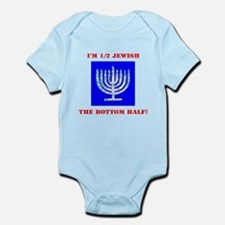 Funny Half Jewish the Bottom 1/2 for Ben Body Suit