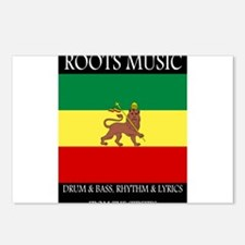 Roots-Music-Flag-Ethiopia Postcards (Package of 8)