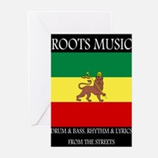 Roots-Music-Flag-Ethiopia-iPad Greeting Cards