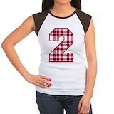 Number 2 Women's Cap Sleeve T-Shirt