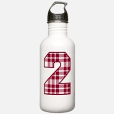 2 plaid maroon Water Bottle