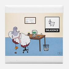 Sheep Slacker Tile Coaster