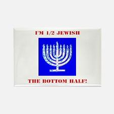 Funny Half Jewish the Bottom 1/2 Magnets