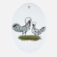Polish Splash Chickens Ornament (oval)