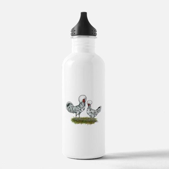 Polish Splash Chickens Water Bottle