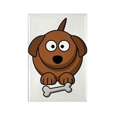 Brown Puppy Rectangle Magnet