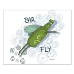 Bar Fly Drinking Small Poster