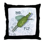 Bar Fly Drinking Throw Pillow