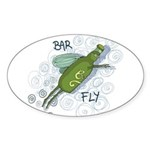 Bar Fly Drinking Oval Sticker