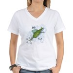Bar Fly Drinking Women's V-Neck T-Shirt
