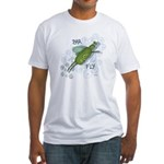 Bar Fly Drinking Fitted T-Shirt
