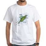 Bar Fly Drinking White T-Shirt