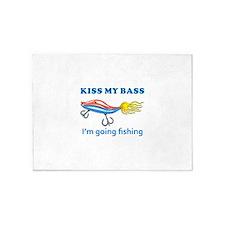 KISS MY BASS 5'x7'Area Rug