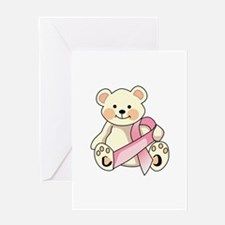 FIGHT CANCER BEAR Greeting Cards