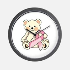 FIGHT CANCER BEAR Wall Clock