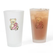 FIGHT CANCER BEAR Drinking Glass