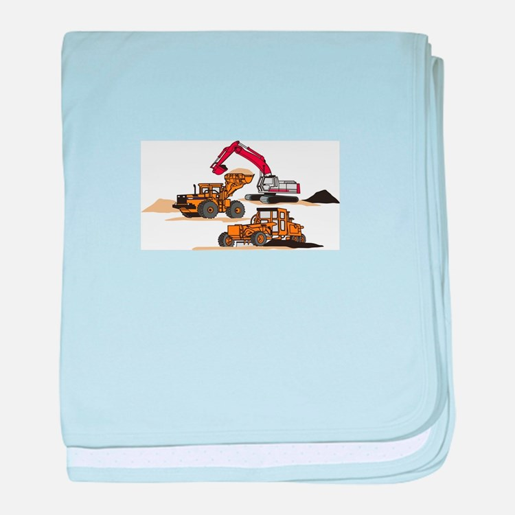 3 PC. HEAVY EQUIPMENT baby blanket
