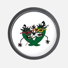 CRAZY PEPPERS Wall Clock