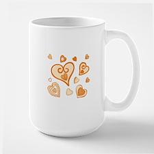Doodle Hearts GOLD 05 Mug