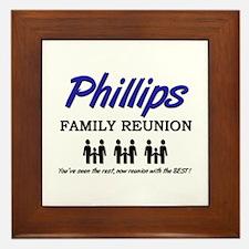 Phillips Family Reunion Framed Tile