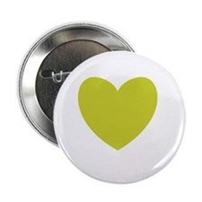 """OLIVE GREEN Heart 08 2.25"""" Button"""