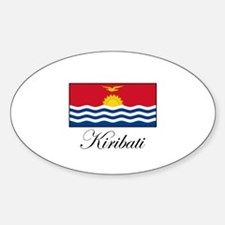 Kiribati - Flag Oval Decal