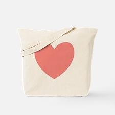 SALMON Heart 12 Tote Bag