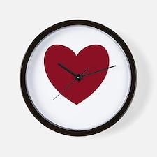 MAROON Heart 13 Wall Clock