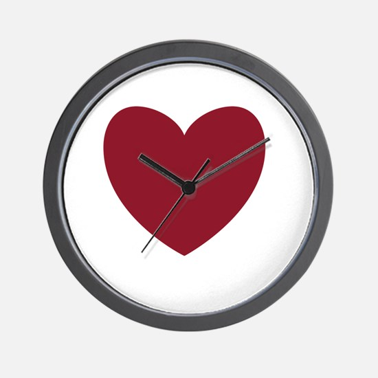 MAROON Heart 13 Wall Clock